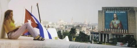 Contemplando ell Sagrado Corazón  desde la torre de José Martí