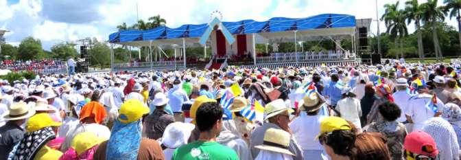 El 21 de septiembre: hizo un año          que el Papa estuvo en Holguín