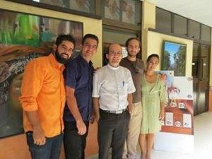 Los comunicadores católicos en la sala del Hotel Pernik