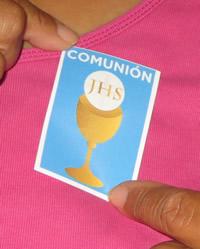 la pegatina de la comunión