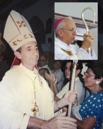 Mons. Emilio en 1991 y en 2016