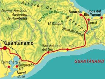 MapaGuantanBaracoa